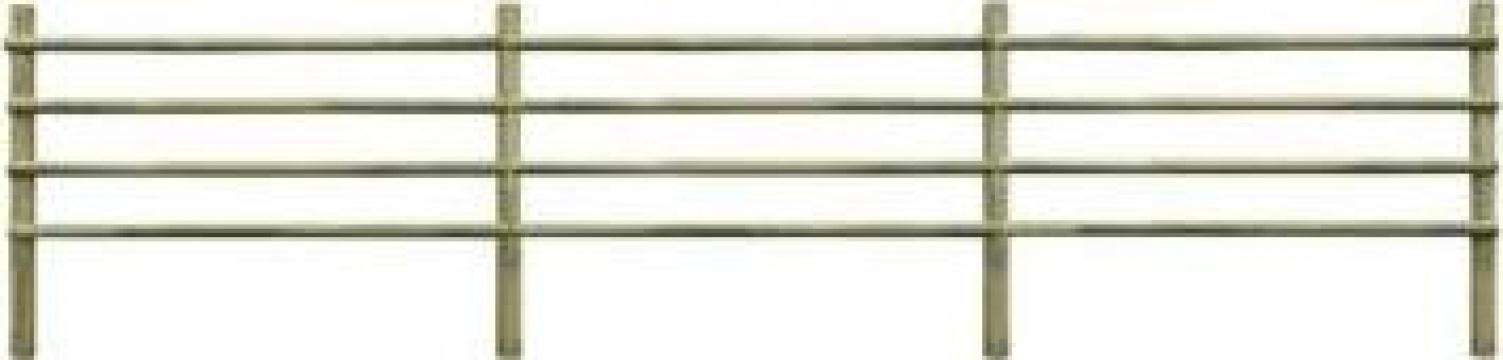 Gard pentru gradina, lemn de pin tratat 100% FSC 6 m