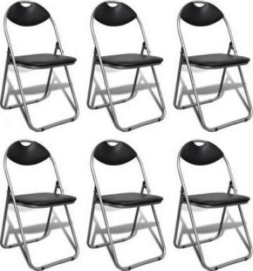 Set scaune pliabile, 6 buc.