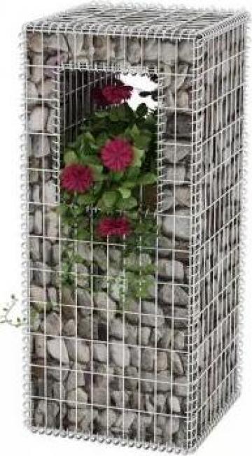 Stalp cos gabion / jardiniera, otel, 50 x 120 cm de la Vidaxl