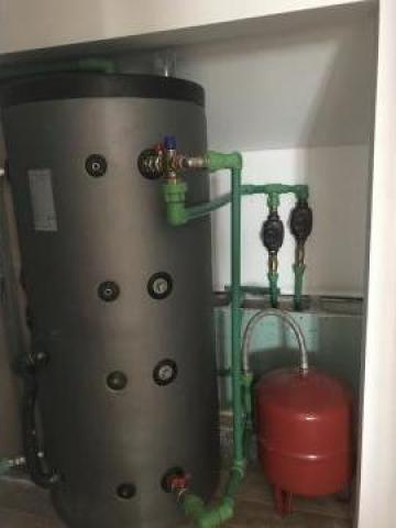 Boiler cu aport solar pentru incalzire de la Cetas Climatic Srl