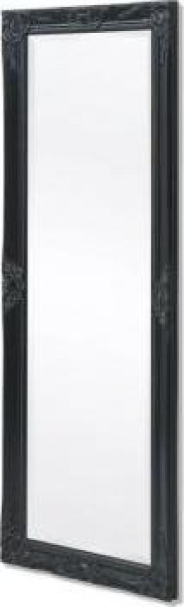 Oglinda verticala baroc 140 x 50 cm negru