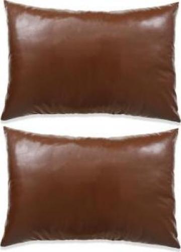 Set perne decorative 2 buc. Poliuretan 40x60 cm Maro de la Vidaxl