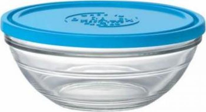 Caserola rotunda sticla capac Duralex 19cm 97cl de la Basarom Com