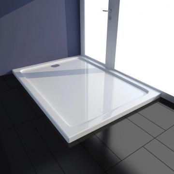 Tava de dus dreptunghiulara din ABS, 80 x 110 cm, alb