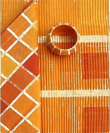 Fata de masa din bumbac 150x150cm portocaliu, galben de la Basarom Com