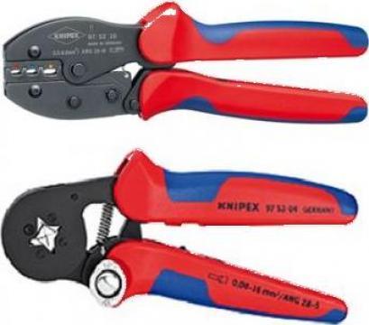 Cleste sertizat papuci izolati 0.5-6 mmp Knipex 975236SB de la Furitech Srl
