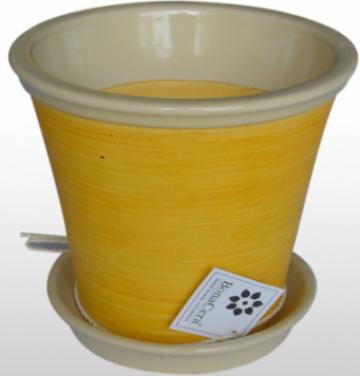 Ghiveci din ceramica pentru flori cu suport 6119