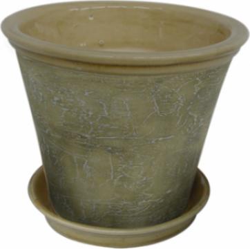Ghiveci din ceramica pentru flori cu suport 6125