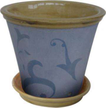 Ghiveci din ceramica pentru flori cu suport 6126