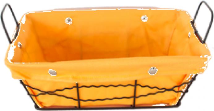 Cos dreptunghiular paine Raki metal, panza galben 23x18x8cm de la Basarom Com