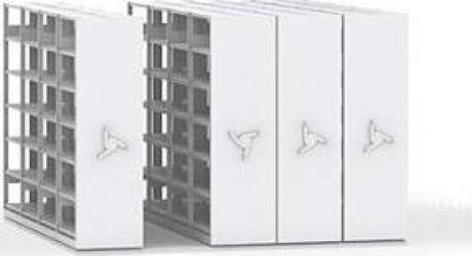 Sistem rafturi mobile pentru depozitare piese mici