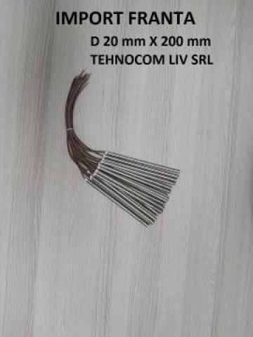 Rezistenta - cartus L 200 mm; P 800-2000W, D=20 mm de la Tehnocom Liv Rezistente Electrice, Etansari Mecanice