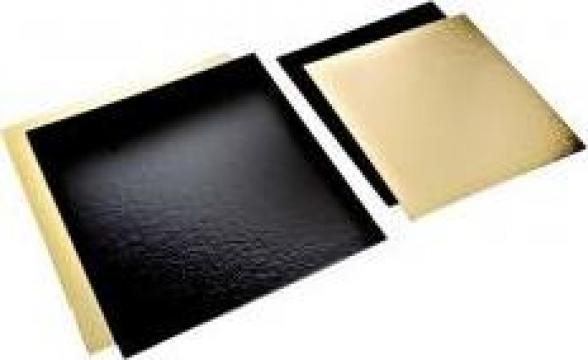 Planseta dreapta auriu/negru 20x20cm de la Cristian Food Industry Srl.