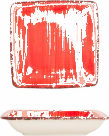 Farfurie patrata supa Gural colectia Red 19x19cm de la Basarom Com