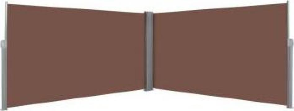 Copertina laterala retractabila, 160 x 600 cm, maro