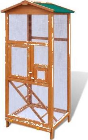 Cusca de pasari din lemn, 65 x 63 x 165 cm