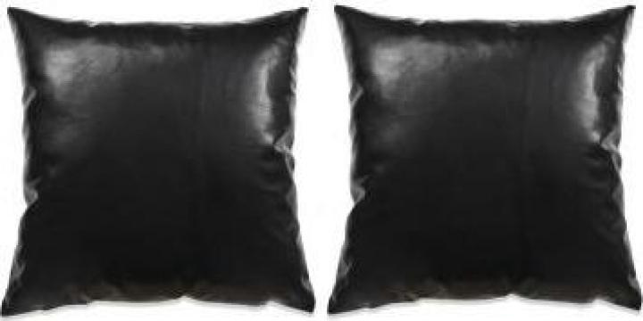 Set perne decorative 2 buc. poliuretan 60x60 cm negru de la Vidaxl