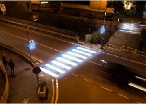 Iluminare trecere de pietoni cu reflectoare led