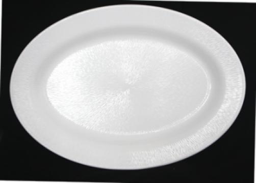 Platou oval Raki Nova White melamina 36x51x1cm de la Basarom Com