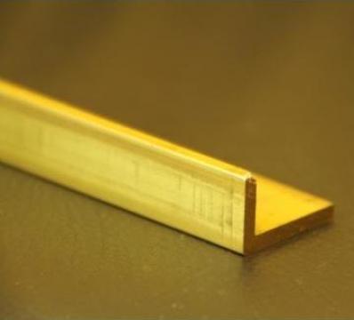 Cornier alama 40x15x2x500mm profil L coltar alama CuZn37