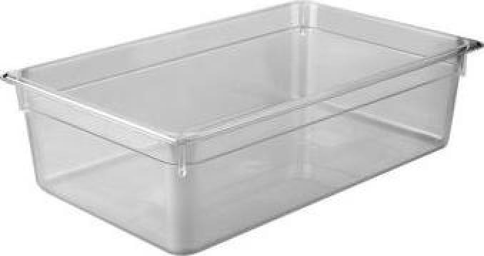 Tava gastronorm policarbonat 1/1-65 8,5litri transparent de la Basarom Com