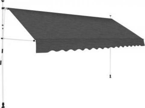 Copertina retractabila manual, 350 cm, antracit