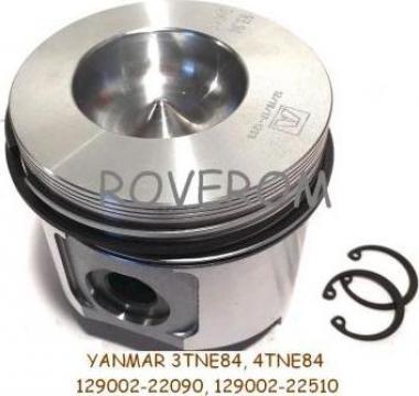 Piston kit STD Yanmar 3TNE84, 4TNE84, Komatsu 3D84E, 4D84E