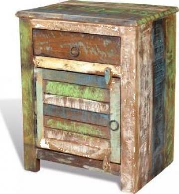 Dulap cu 1 sertar si 1 usa, lemn reciclat