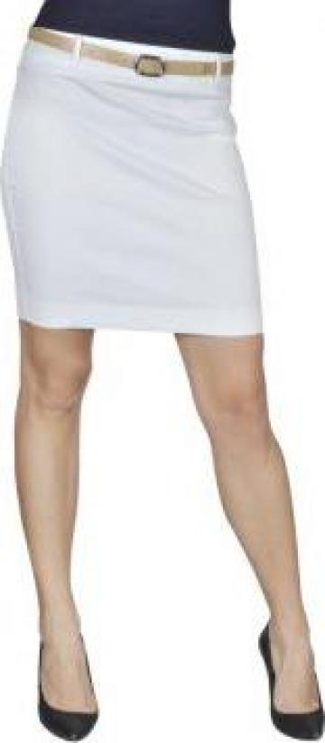 Fusta mini cu curea marimea 34 alb de la Vidaxl