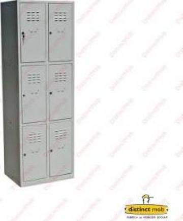 Dulap metalic vestiar pentru scoli, cu 6 usi de la Distinct Mob SRL