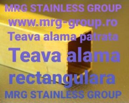 Teava alama patrata teava alama rectangulara CuZn37 CW508L de la MRG Stainless Group Srl