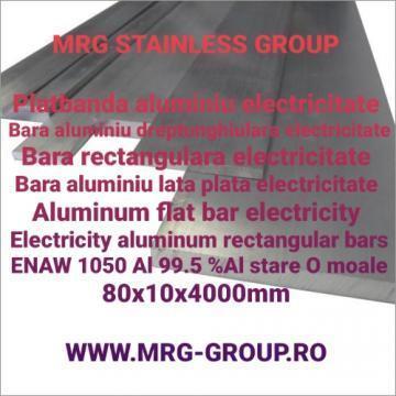 Platbanda aluminiu electricitate 80x10mm bara aluminiu lata