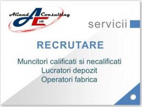 Recrutare muncitori de la Aliand Consulting SRL
