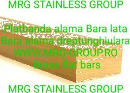Platbanda alama 20x10 bara dreptunghiulara lata inox de la MRG Stainless Group Srl