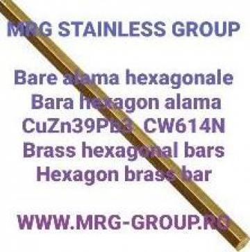 Bara alama hexagonala 5mm hexagon alama CuZn39Pb3 cupru inox de la MRG Stainless Group Srl