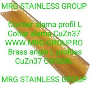 Cornier alama 30x30x2 CuZn37, profil alama L, coltar alama