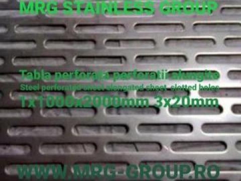Tabla perforata otel 1x1000x2000 perforatii alungite 3x20mm