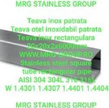 Teava inox patrata 20x20x2mm rectangulara, alama, aluminiu de la MRG Stainless Group Srl