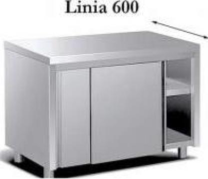 Masa lucru de inox inchisa - linia 600