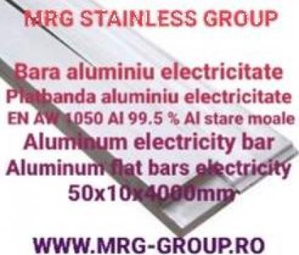 Platbanda aluminiu electricitate 50x10mm EN AW 1050 moale