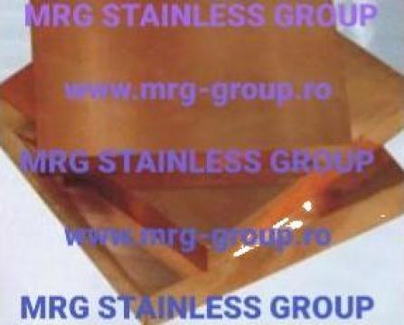 Tabla cupru CuCrZr CuCr1Zr placa cupru, crom, zirconiu de la MRG Stainless Group Srl