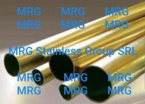 Teava alama rotunda 10x1.5mm tub conducta alama MS63 CuZn37