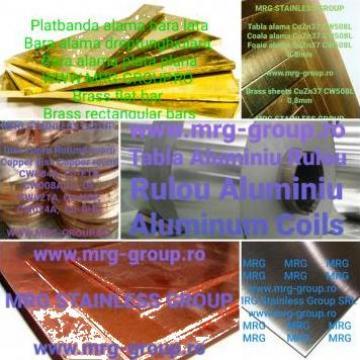 Tabla pentru acoperis de aluminiu, alama cupru, inox de la MRG Stainless Group Srl