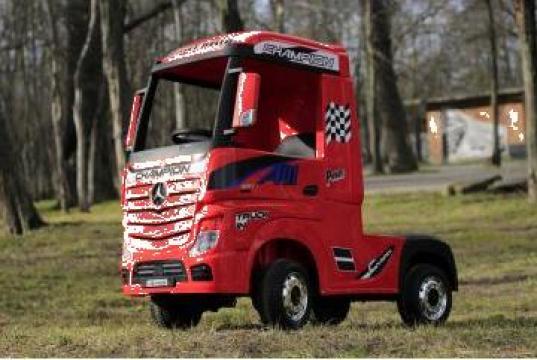 Camion electric copii Mercedes Actros 4x4 180W 12V Premium #