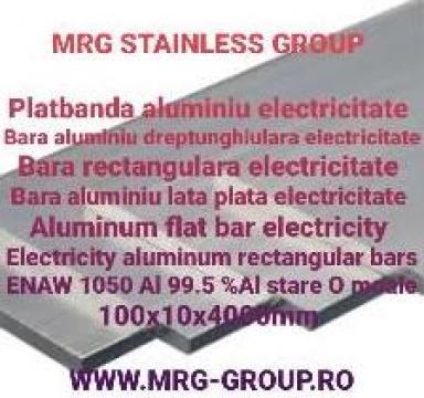 Platbanda aluminiu electricitate 100x10mm EN AW 1050 moale
