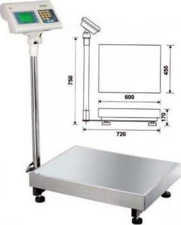 Cantar electronic 150 kg B004/150 de la Proma Machinery Srl.