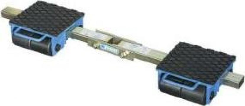 Carucior pentru marfa cu role 6 t - platforma 0654/06f de la Proma Machinery Srl.