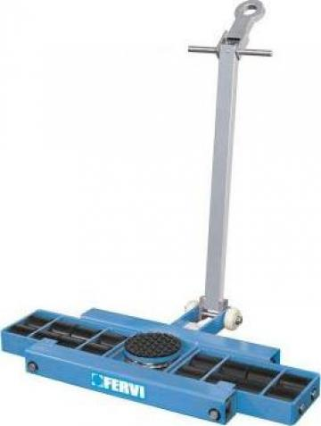 Carucior pentru marfa cu role 6 t - platforma 0654/06l de la Proma Machinery Srl.