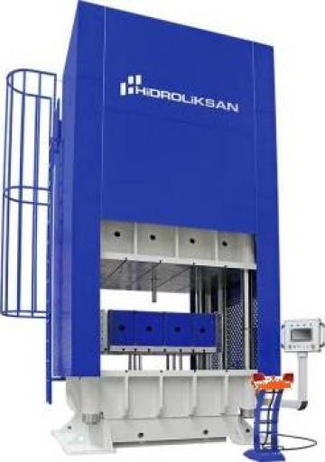 Presa hidraulica cu coloana H cu simplu efect HCFP/100 de la Proma Machinery Srl.