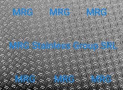 Tabla aluminiu striata Quintett 5x1500x3000mm 5 bare relief